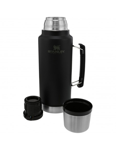 Stanley Classic Legendary Insulated Vacuum Bottle Matte Black 1,4L Open
