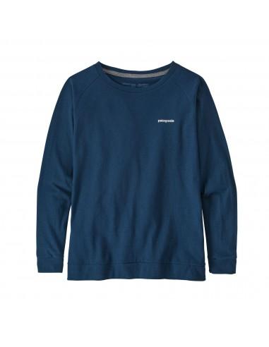 Patagonia Dámske Tričko S Dlhým Rukávom Pastel P-6 Logo Responsibili-Tee Crater Modrá Offbody Spredu
