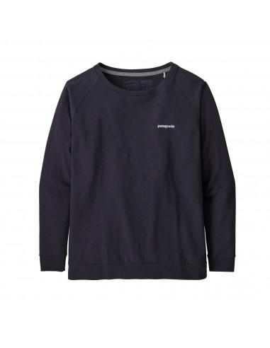 Patagonia Dámske Tričko S Dlhým Rukávom Pastel P-6 Logo Responsibili-Tee Piton Purple Offbody Spredu