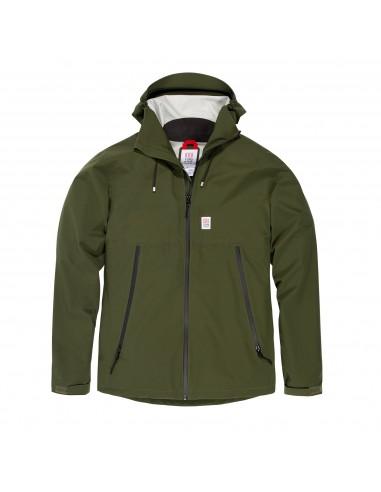 Topo Designs Pánska Bunda Global Jacket Olivová Zelená Offbody Spredu
