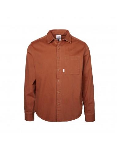 Topo Designs Pánska Košeľa Dirt Shirt Hlinená Oranžová Offbody Spredu