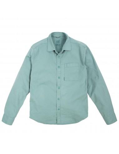 Topo Designs Pánska Košeľa Dirt Shirt Sage Modrá Offbody Spredu