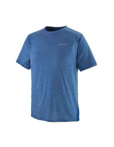 Patagonia Pánske Bežecké Tričko Airchaser Superior Modrá X-Dye Offbody Spredu