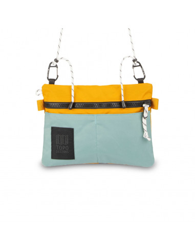 Topo Desings Taška Carabiner Shoulder Accessory Bag Sage Modrá Horčicová Žltá Spredu