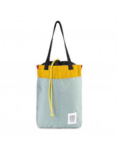 Topo Designs Cinch Tote Sage Mustard Front