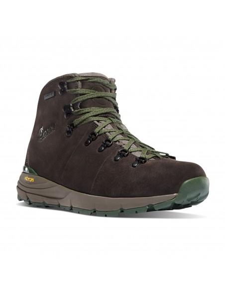 Danner Mountain 600 4.5 Tmavá Hnedá Zelená Turistické Topánky Spredu