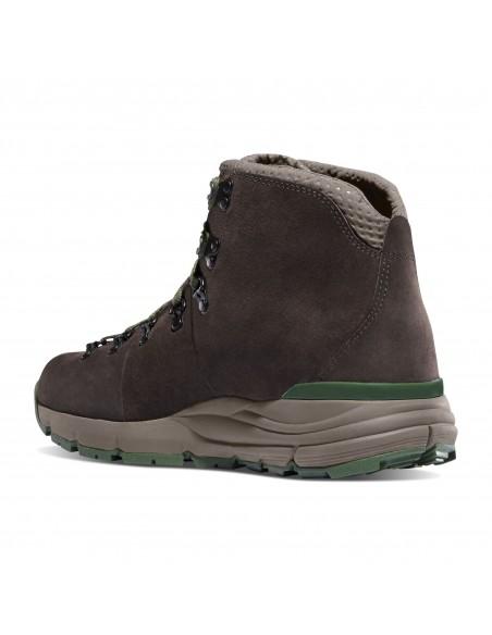 Danner Mountain 600 4.5 Tmavá Hnedá Zelená Turistické Topánky Zozadu