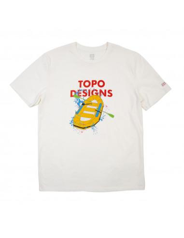 Topo Desingns Pánske Tričko Raft Tee Natural Offbody Spredu
