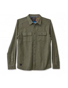 KAVU Mens Franklin Shirt Thyme Offbody Front