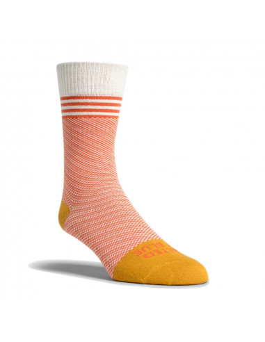 United By Blue Ponožky SoftHemp Birdseye Pruhované Clay Žltá