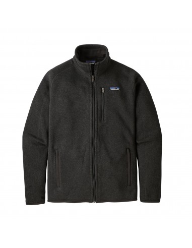Patagonia Mens Better Sweater Jacket 100% Recycled Black Offbody Front Closed