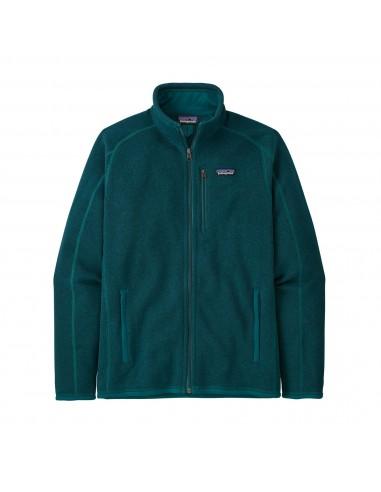Patagonia Pánska Fleecová Bunda Better Sweater 100% Recyklovaný Tmavá Borealis Zelená Offbody Spredu
