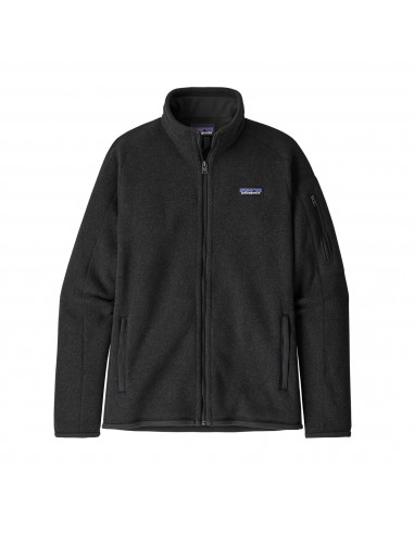 Patagonia Womens Better Sweater Jacket 100% Recycled Black Offbody Front