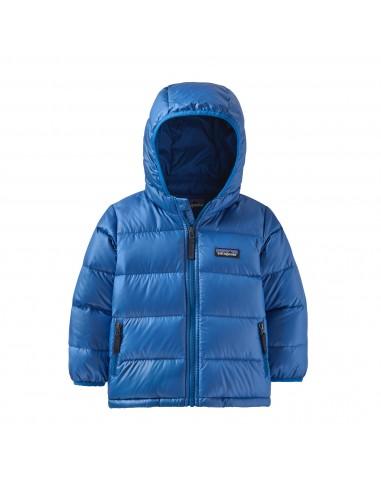 Patagonia Detská Páperová Bunda HiLoft Hoody Bayou Modrá Spredu