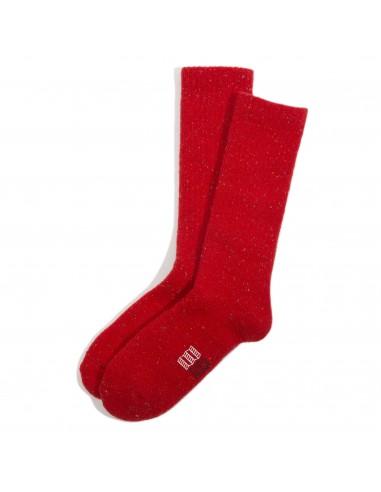 Topo Desings Ponožky Mountain Sock Červená