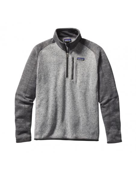 Patagonia Pánsky Fleecový 1/4 Zips Sveter Better Sweater Niklová Kováčska Sivá Offbody