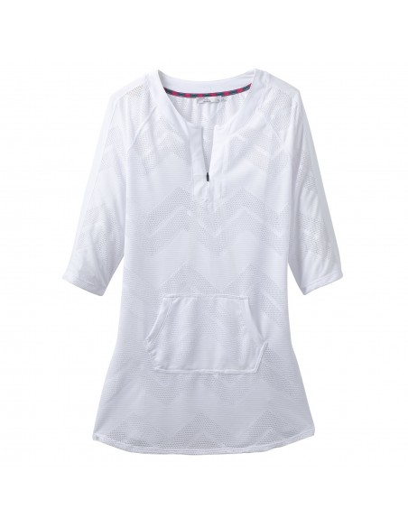 prAna Womens Shea Tunic Dress White Offbody Front