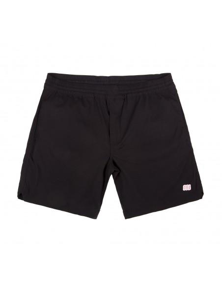 Topo Designs Mens Global Shorts Black Offbody Front