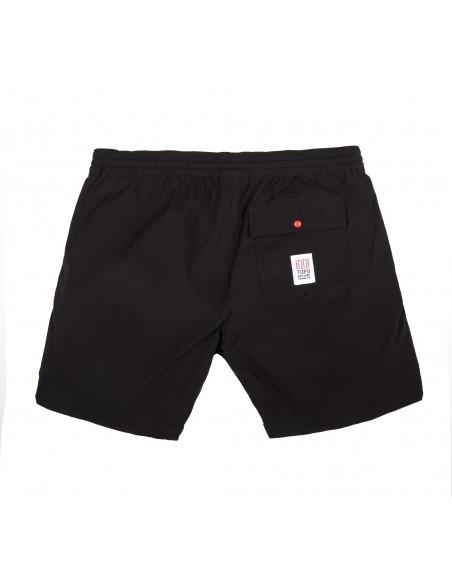 Topo Designs Mens Global Shorts Black Offbody Back