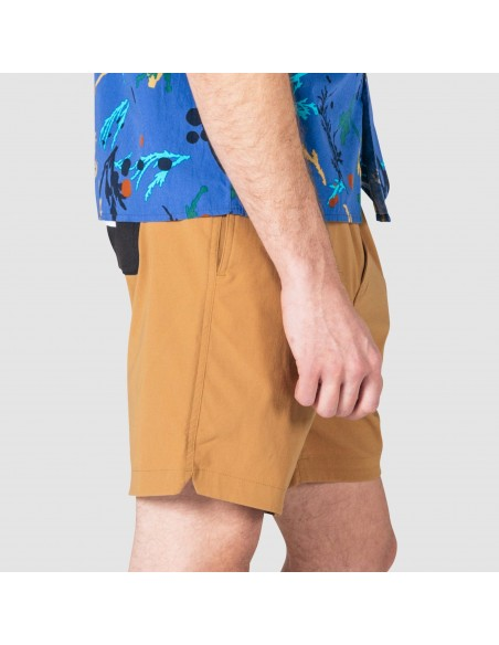 Topo Designs Mens Global Shorts Khaki Onbody Side