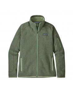 Patagonia Womens Better Sweater Fleece Jacket Matcha Green Offbody Front