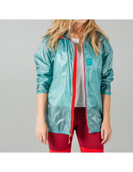 Topo Designs Ultralight Jacket Glacier Onbody Front