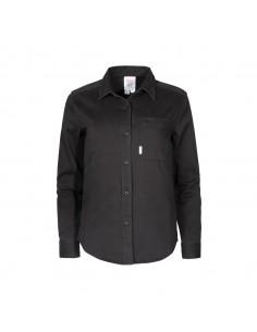 Topo Designs Dámska Košeľa Čierna Offbody Spredu