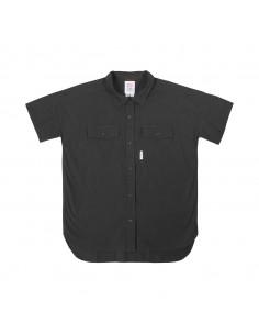 Topo Designs Dámska Nadrozmerná Košeľa S Krátkym Rukávom Čierna Offbody Spredu