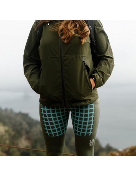 Topo Designs Womens Sport Tights Black Grid Lifestyle 2