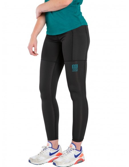 Topo Designs Womens Sport Tights Black Onbody Side