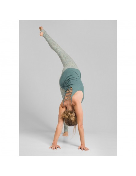 prAna Dámske Yoga Legíny Serafina Agáve Svetlá Zelená Fŕkaná Onbody Zozadu 2