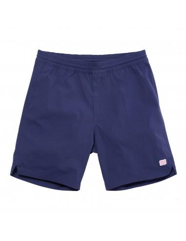 Topo Designs Mens Global Shorts Navy Offbody Front