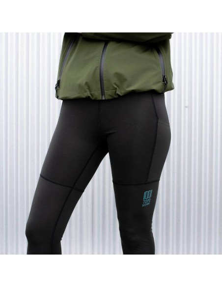 Topo Designs Womens Sport Tights Black Lifestyle 2