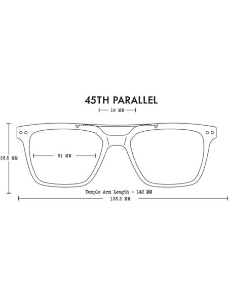 Proof Slnečné Okuliare 45th Parallel Eco Matná Čierna Polarizované Spredu Offbody Dizajn