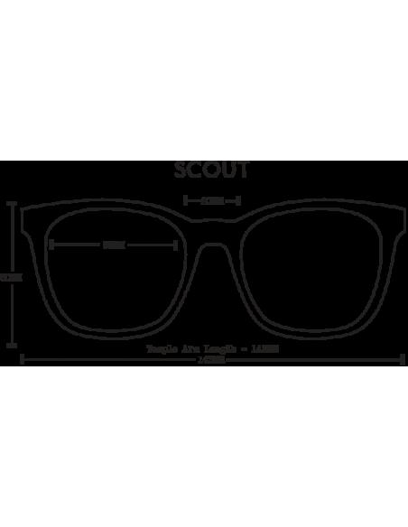 Proof Slnečné Okuliare Scout Eco Matná Karamelová Hnedá Spredu Offbody Dizajn