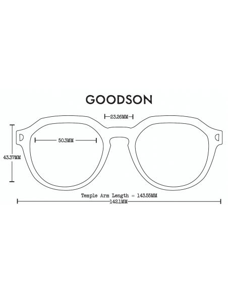Proof Slnečné Okuliare Goodson Eco Čierna Polarizované Spredu Offbody Dizajn