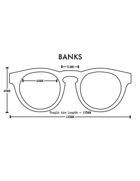 Proof Slnečné Okuliare Banks Eco Čierna Polarizované Spredu Offbody Dizajn