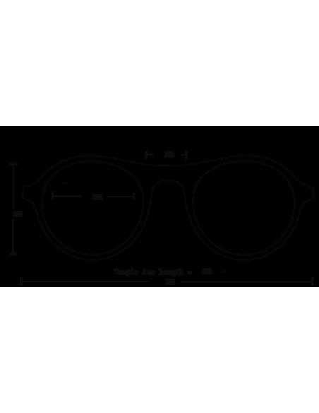 Proof Slnečné Okuliare Midway Eco Medová Belasé Zrkadlovky Polarizované Spredu Onbody Dizajn