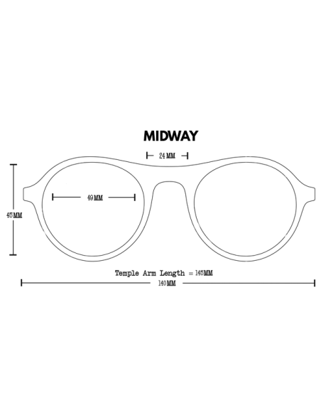 Proof Slnečné Okuliare Midway Eco Čierna Polarizované Spredu Offbody Dizajn