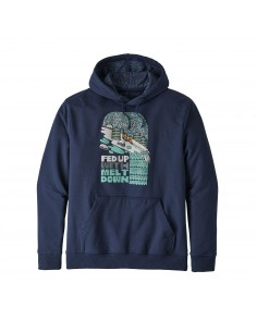 Patagonia Mens Fed Up With Melt Down Uprisal Hoody Classic Navy Offbody Front
