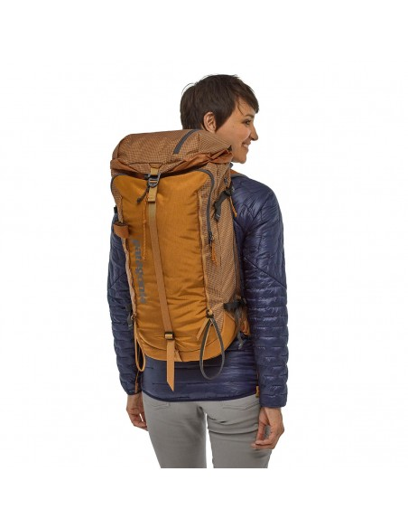 Patagonia Backpack Descensionist Pack 32L Hammonds Gold Onbody 1