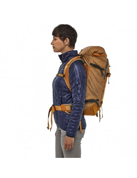 Patagonia Backpack Descensionist Pack 32L Hammonds Gold Onbody 2