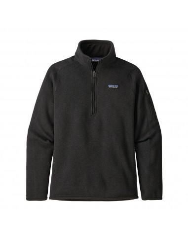 Patagonia Dámsky Fleecový Sveter Better Sweater 1/4-Zip Black Offbody Spredu