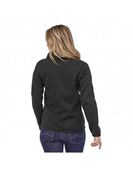 Patagonia Dámsky Fleecový Sveter Better Sweater 1/4-Zip Black Onbody Zozadu