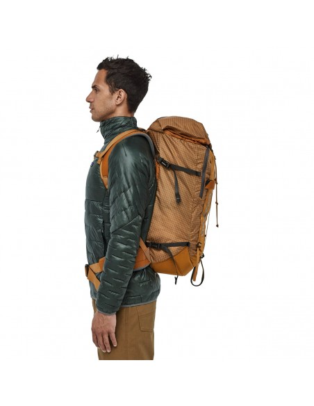 Patagonia Backpack Descensionist Pack 40L Hammonds Gold Onbody 2