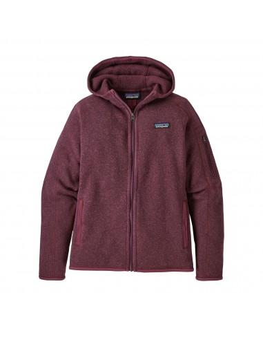 Patagonia Dámska Mikina Na Zips Better Sweater Hoody 100% Recyklovaná Balzamiková Červená Offbody Spredu