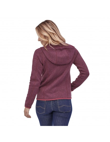 Patagonia Dámska Mikina Na Zips Better Sweater Hoody 100% Recyklovaná Balzamiková Červená Onbody Zozadu