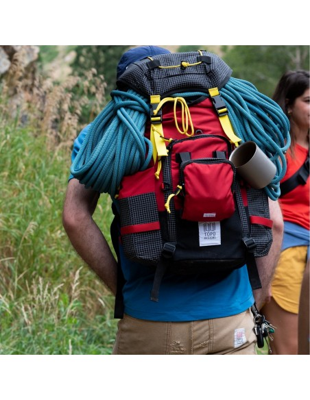 Topo Designs Subalpine Pack Red Onbody Lifestyle