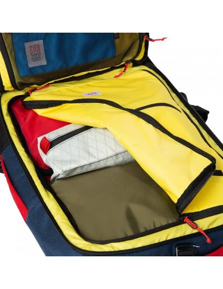 Topo Designs Travel Bag 40L Navy Offbody Open