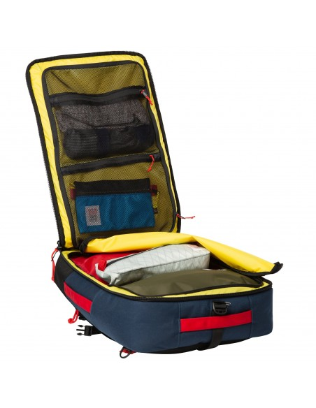 Topo Designs Travel Bag 40L Navy Offbody Open 2